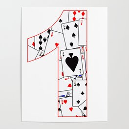Number One Cards Poster
