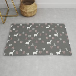 Winter themed repeatable pattern Rug
