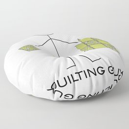 Funny Mens Quilting Guy Floor Pillow