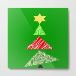 The Topsy Turvy Christmas Tree Metal Print