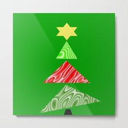 The Topsy Turvy Christmas Tree Metal Print