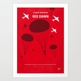 No1018 My Red Dawn minimal movie poster Art Print