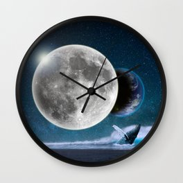 Blue Whale by GEN Z Wall Clock