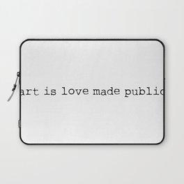 Art is love made public - Sense8 Laptop Sleeve