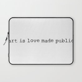 Art is love made public - Sense8 Laptop Sleeve