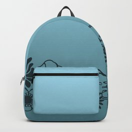 Kitschy Flower Medley Turquoise Backpack