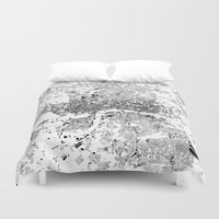 london map Duvet Covers featuring LONDON MAP by Maps Factory