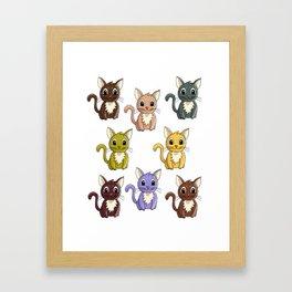 Who said meow? Framed Art Print
