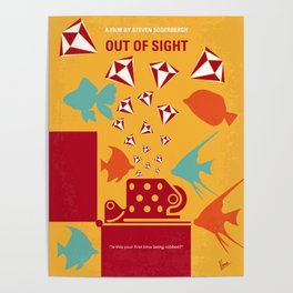 No953 My OUT OF SIGHT minimal movie poster Poster