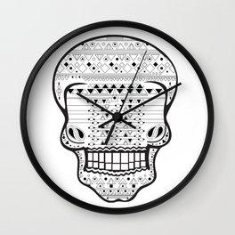 B/W Skull 1 Wall Clock