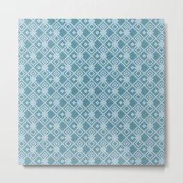 squared pattern Metal Print