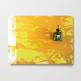indoor lighting with shadow of tree and strong sunlight Metal Print