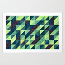 Retro-Geo Pattern Art Print