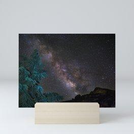 """Milky-way at the mountains"". Summer  Mini Art Print"