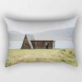 House in front of the lake Rectangular Pillow