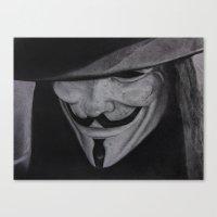 vendetta Canvas Prints featuring Vendetta by jsanmateo