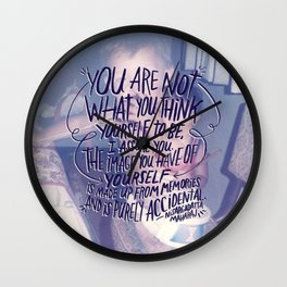 NISARGADATTA MAHARAJ Wall Clock