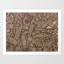 Twisting - Close Up Art Print