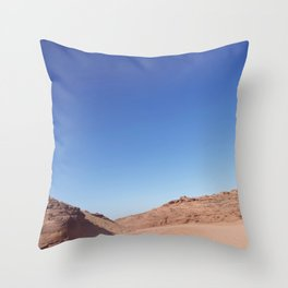 Four-Wheel-Driving Through the Pinks and Blues of Antelope Canyon 03 Throw Pillow