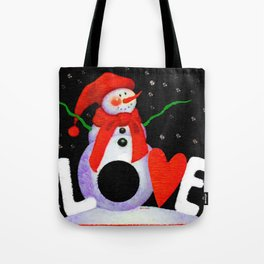 Snowman Love Tote Bag