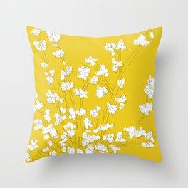 Bright Forsythia Throw Pillow