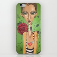 charmaine iPhone & iPod Skins featuring Tattooed by Charmaine D'Silva
