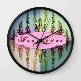 Foxglove Digitalis X4 Wall Clock