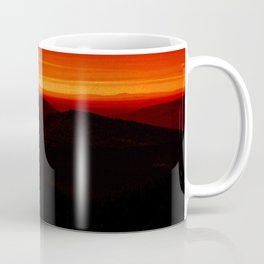 Red Horizon, Fire in the Distance. Coffee Mug