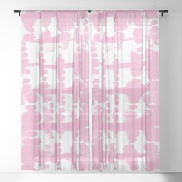 Parallel Bubble Gum Sheer Curtain