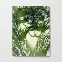 Vegetation. Abtract Art by Tito Metal Print