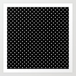 Dots (White/Black) Art Print