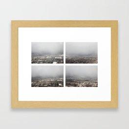 Aerial Quadriptych: 2/16/13 (Near LGA) Framed Art Print