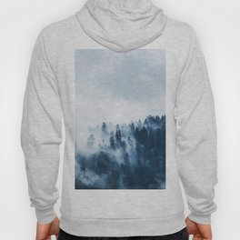 CLOUDS - WHITE - FOG - TREES - FOREST - LANDSCAPE - NATURE - TIMBER - WOODS - PHOTOGRAPHY Hoody