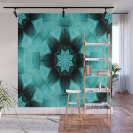 Teal Starry Starry Night.... Wall Mural