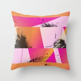 Summer Sunset Abstract Digital Collage Throw Pillow