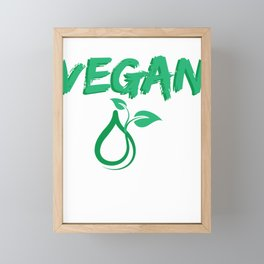 VEGAN with logo Framed Mini Art Print