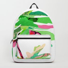 Tropical Botanical Colorful Leaves Backpack