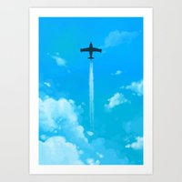 planes Art Prints featuring Planes by Ashleigh Jane