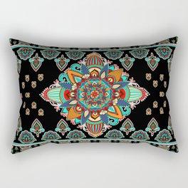 Eastern Spirit / Bohemian Style Indian Asian Design Rectangular Pillow