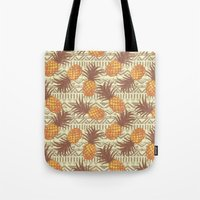 pineapples Tote Bags featuring pineapples by Julia