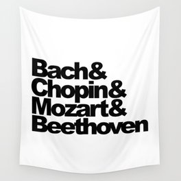 Bach and Chopin and Mozart and Beethoven Wall Tapestry