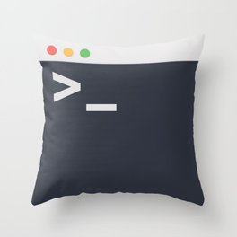 The Command Terminal Throw Pillow