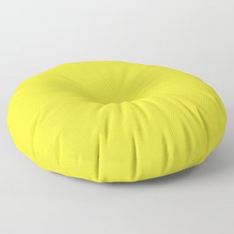 Yellow Highlighter Solid Summer Party Color Floor Pillow