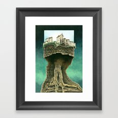 City on a tree Framed Art Print