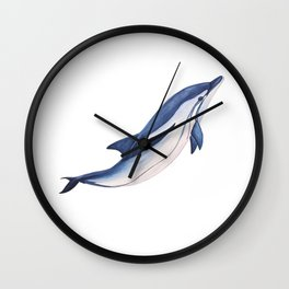 Striped baby dolphin Wall Clock