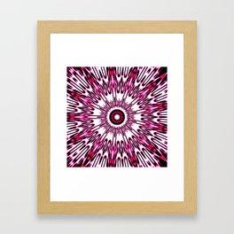 Pink White Black Explosion Framed Art Print
