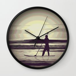 Psychedelic Sunrise Wall Clock