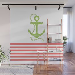 AFE Green Nautical Anchor Wall Mural