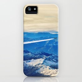 Airplane above the Clouds I iPhone Case