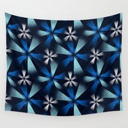 Fragmented Blue Burst Wall Tapestry